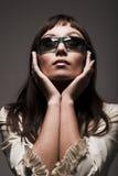 Fashion woman wearing sunglasses Stock Photos