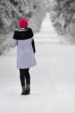 Fashion woman on winter Stock Photography