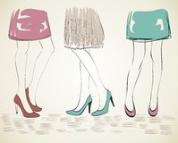 Fashion womans. Royalty Free Stock Images