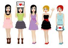 Fashion women Stock Image