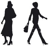 Fashion woman silhouettes Stock Photo