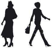 Fashion woman silhouettes Stock Photo