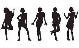 Fashion women. Vector. Silhouettes of the womans on white background vector illustration