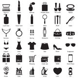 Fashion and women accessories, icons Stock Photos