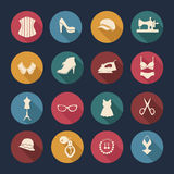 Fashion and women accessories, icons - Illustration Royalty Free Stock Photography