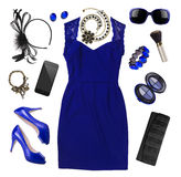 Fashion women accessories of spring dress isolated on white