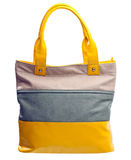 Fashion women bag over white, with clipping path Royalty Free Stock Photography