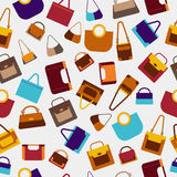 Fashion women bags seamless pattern. Royalty Free Stock Photos