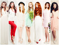 Fashion Women Collage. Beautiful Fashion Model Royalty Free Stock Image