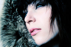 Fashion women in furs. Portrait Royalty Free Stock Photos