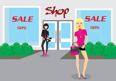 Fashion women.  illustration Royalty Free Stock Photography