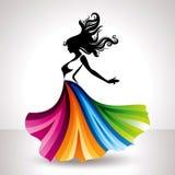 Fashion women illustration in glamourus style.  Stock Image