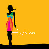 Fashion women illustration Royalty Free Stock Images