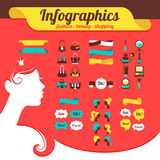 Fashion women's infographics Stock Image