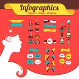 Fashion women's infographics Stock Image