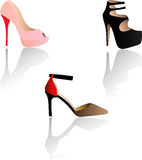 Fashion womens shoes, pumps Royalty Free Stock Photography