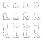 Fashion women shoes vector Royalty Free Stock Image