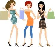 Fashion women at the shopping Stock Photos