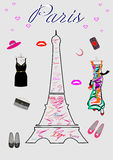 Fashion for women Shopping in Paris Royalty Free Stock Photos
