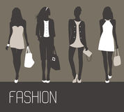 Fashion women shopping. Royalty Free Stock Image