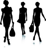 Fashion women silhouettes Royalty Free Stock Images