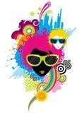Fashion women with sunglasses. The vector fashion women with sunglasses, created by adobe illustrator CS stock illustration