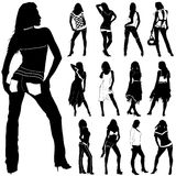 Fashion women vector. Set of fashion women vector. (clothes details stock illustration