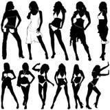 Fashion women vector. Set of fashion women vector royalty free illustration
