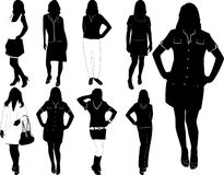 Fashion women2. Vector illustration Royalty Free Stock Image