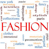 Fashion Word Cloud Concept Stock Photos