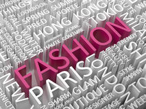 Fashion word cloud. Stock Images