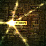 Fashion. Word cloud illustration. Tag cloud concept collage stock illustration