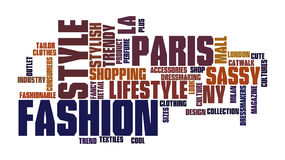Fashion Word Tag Cloud Illustration stock photography