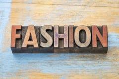 Fashion word wood type Royalty Free Stock Photo