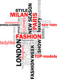 Fashion words Royalty Free Stock Photos