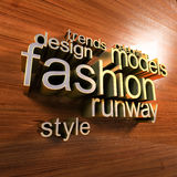 Fashion words cloud Royalty Free Stock Image
