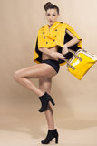 Fashion in Yellow Stock Photo