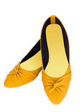 Fashion yellow shoes Royalty Free Stock Image