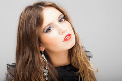 Fashion young beautiful woman portrait Royalty Free Stock Images