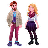 Fashion young characters Stock Photo