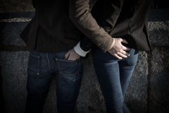 Fashion young couple Royalty Free Stock Photos