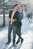 Fashion young couple in love Royalty Free Stock Photography