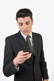 Fashion young man with mobile phone Stock Image