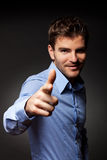 Fashion young man pointing at the camera Stock Image