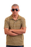 Fashion young man with sunglasses Stock Photos