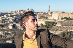 Fashion young man in Toledo, Spain Stock Photos