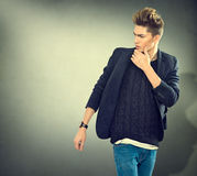 Fashion young model man portrait Stock Image