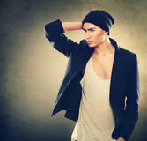 Fashion young model man portrait Stock Photography