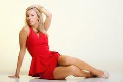 Fashion young woman in full length posing. Studio shot. Stock Photography