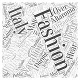 Fashion and Your Italy Vacation word cloud concept word cloud concept  background Stock Images